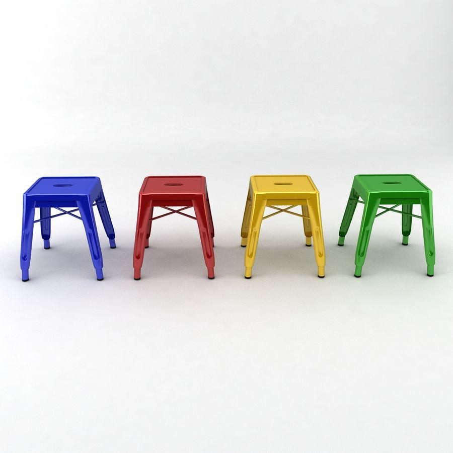 Astounding Small Metal Stool 3D Model 13 Obj Fbx Max Free3D Machost Co Dining Chair Design Ideas Machostcouk