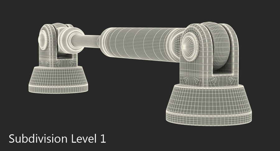 Anodowany cylinder hydrauliczny 5 royalty-free 3d model - Preview no. 13