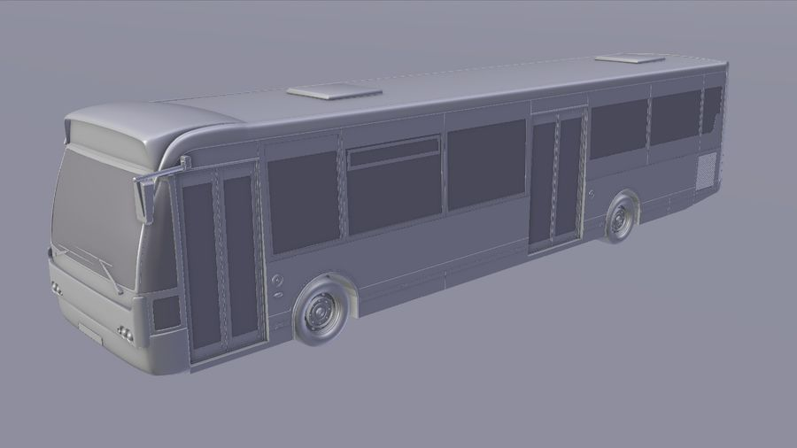 city bus royalty-free 3d model - Preview no. 16