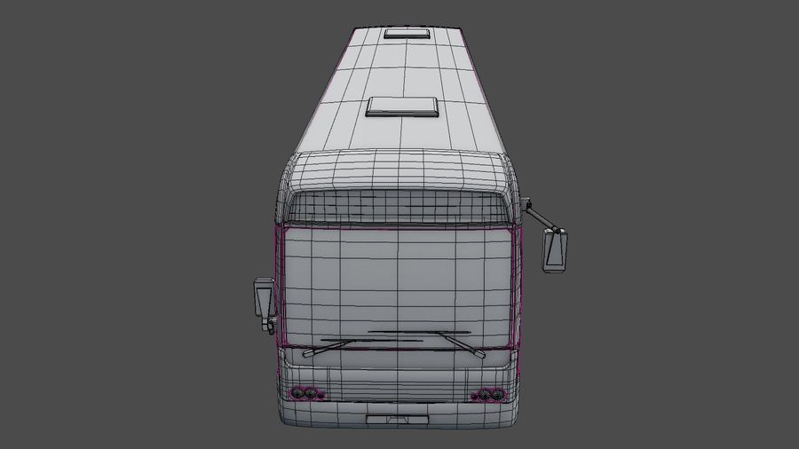 city bus royalty-free 3d model - Preview no. 23