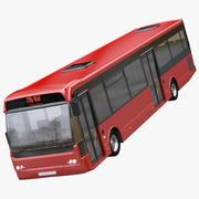 城市公交车 3d model