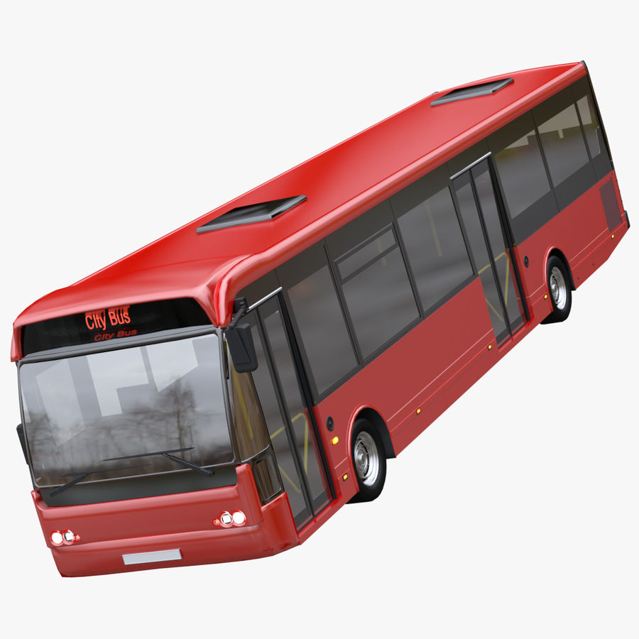 city bus royalty-free 3d model - Preview no. 1