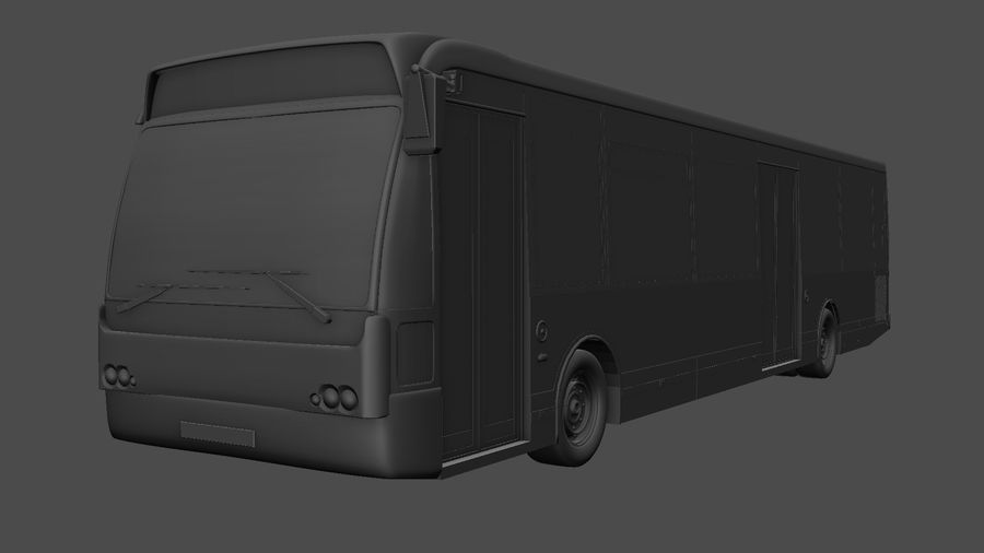 city bus royalty-free 3d model - Preview no. 40
