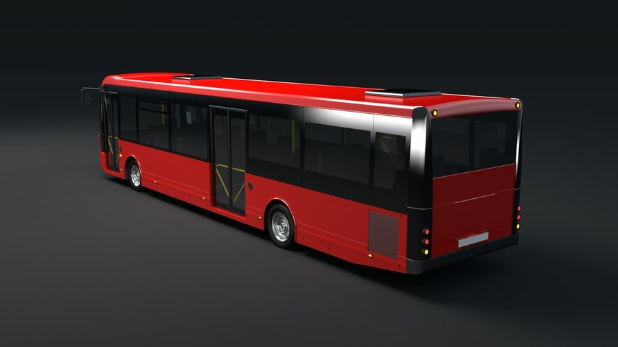 bus de ville royalty-free 3d model - Preview no. 8