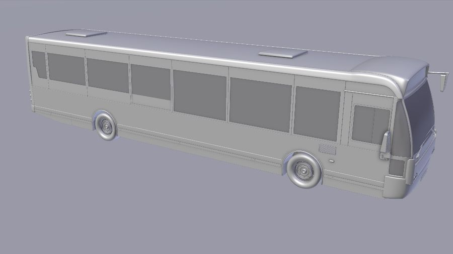 city bus royalty-free 3d model - Preview no. 15