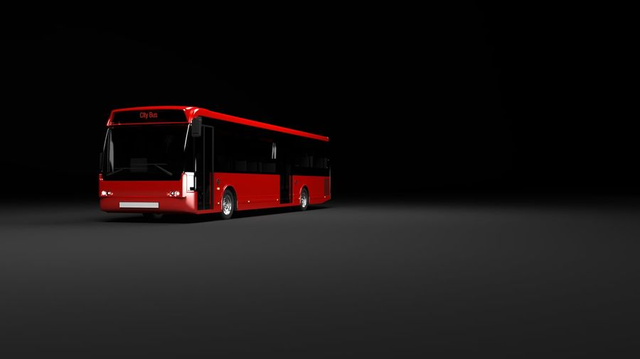 city bus royalty-free 3d model - Preview no. 7