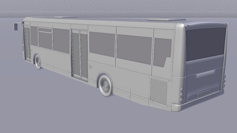 city bus royalty-free 3d model - Preview no. 29