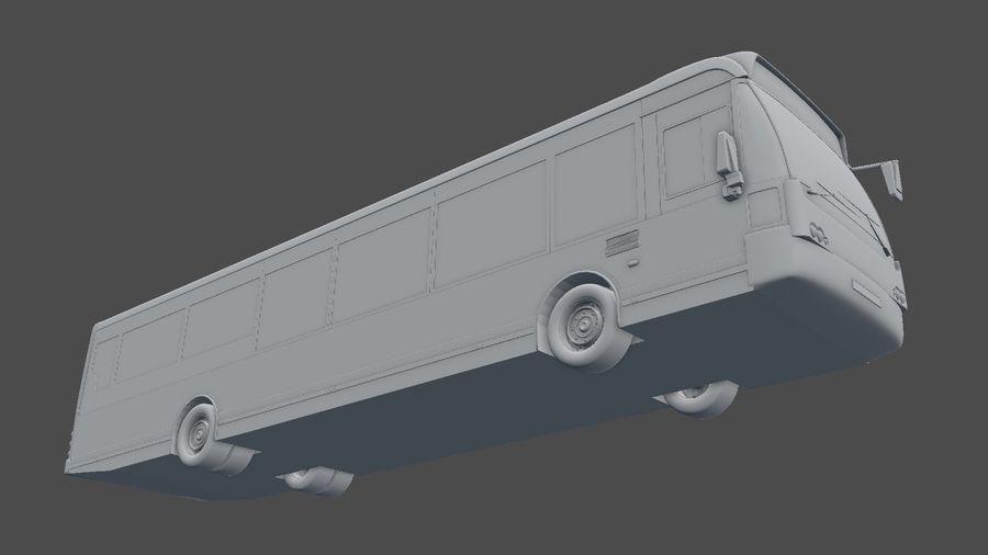 city bus royalty-free 3d model - Preview no. 35