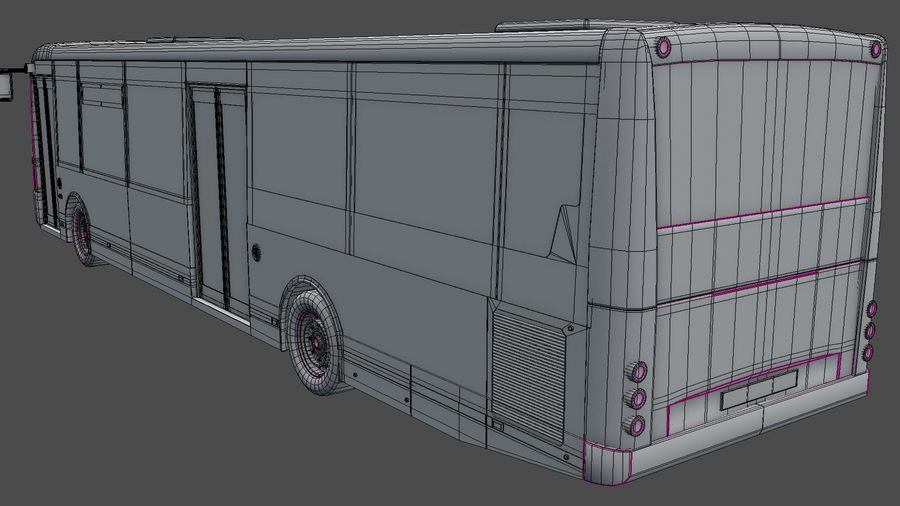 bus de ville royalty-free 3d model - Preview no. 30