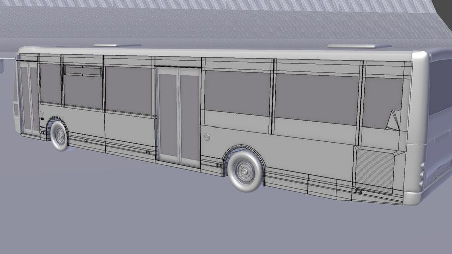 bus de ville royalty-free 3d model - Preview no. 37