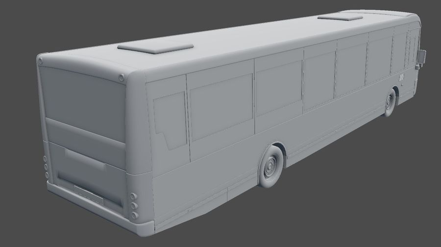 city bus royalty-free 3d model - Preview no. 34
