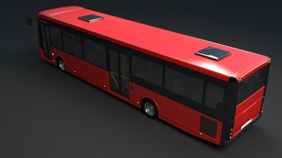 city bus royalty-free 3d model - Preview no. 5