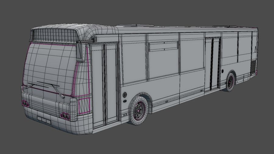 city bus royalty-free 3d model - Preview no. 32