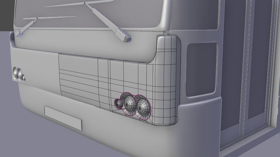 bus de ville royalty-free 3d model - Preview no. 24