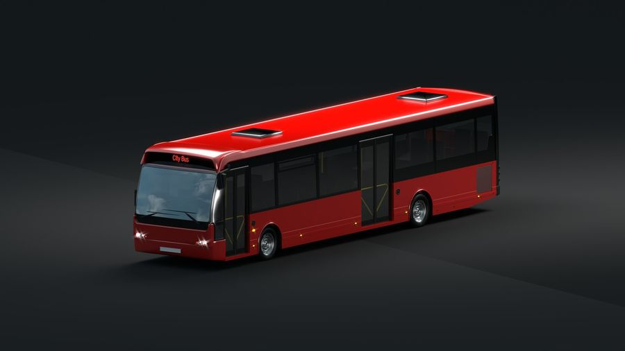 city bus royalty-free 3d model - Preview no. 3