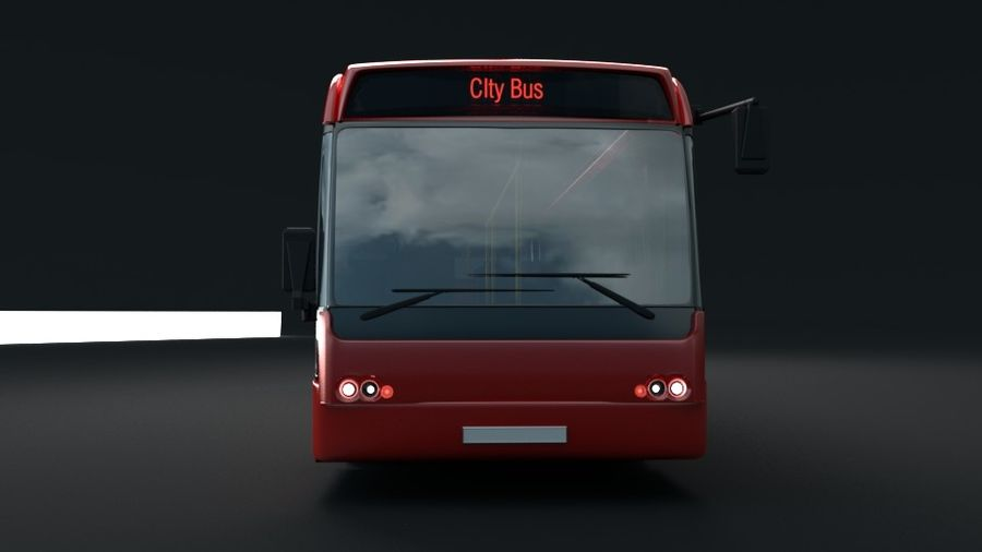 city bus royalty-free 3d model - Preview no. 10