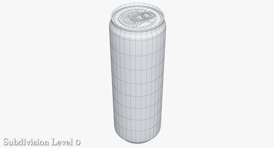 Beverage Can 0.35 L royalty-free 3d model - Preview no. 9