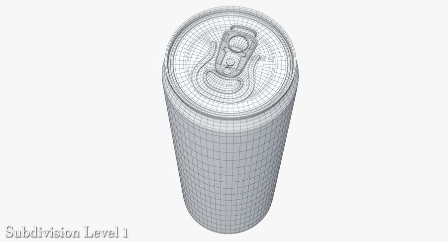 Beverage Can 0.35 L royalty-free 3d model - Preview no. 14