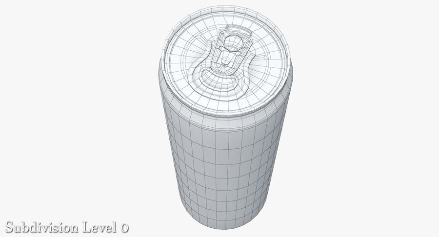 Beverage Can 0.35 L royalty-free 3d model - Preview no. 13