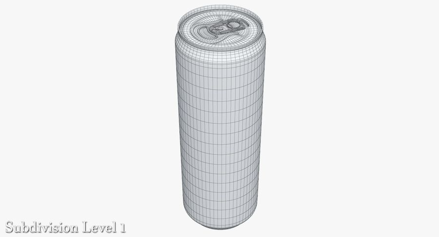 Beverage Can 0.35 L royalty-free 3d model - Preview no. 10