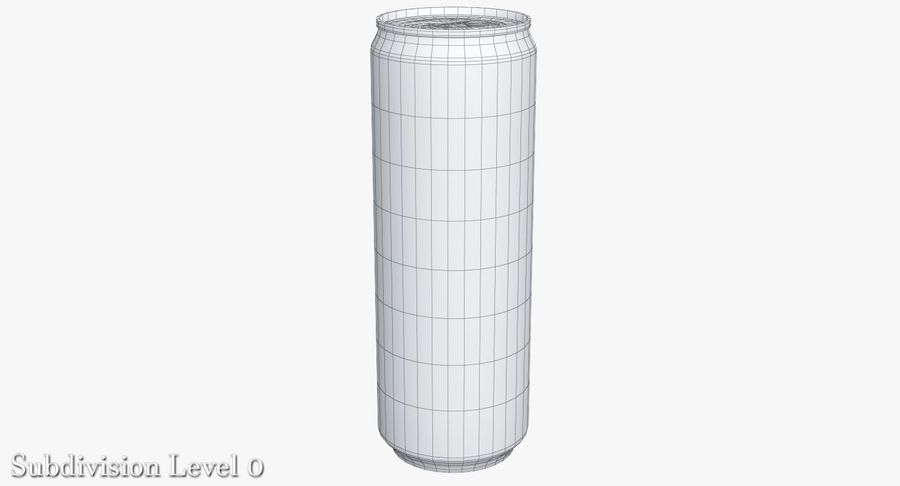 Beverage Can 0.35 L royalty-free 3d model - Preview no. 11