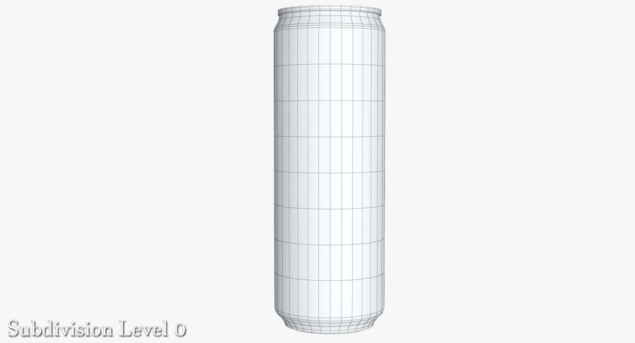 Beverage Can 0.35 L royalty-free 3d model - Preview no. 17
