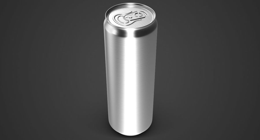 Beverage Can 0.35 L royalty-free 3d model - Preview no. 3