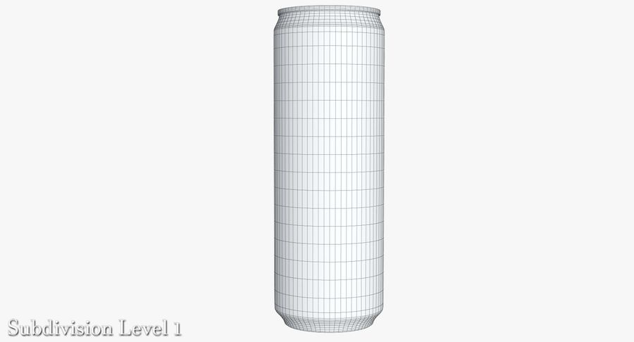 Beverage Can 0.35 L royalty-free 3d model - Preview no. 18