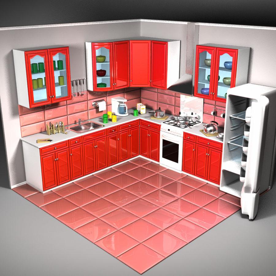 Cartoon Kitchen 3d Model 19 Oth Obj Fbx 3ds Dae