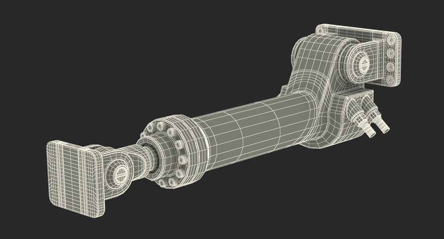 Anodowany cylinder hydrauliczny royalty-free 3d model - Preview no. 20