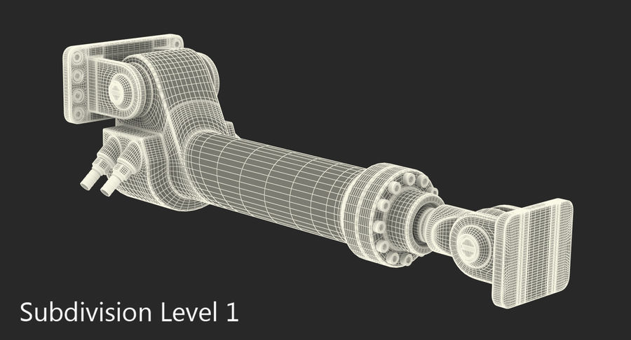 Anodowany cylinder hydrauliczny royalty-free 3d model - Preview no. 15