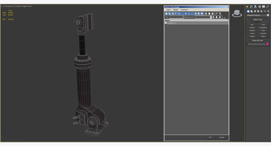 Anodowany cylinder hydrauliczny royalty-free 3d model - Preview no. 18