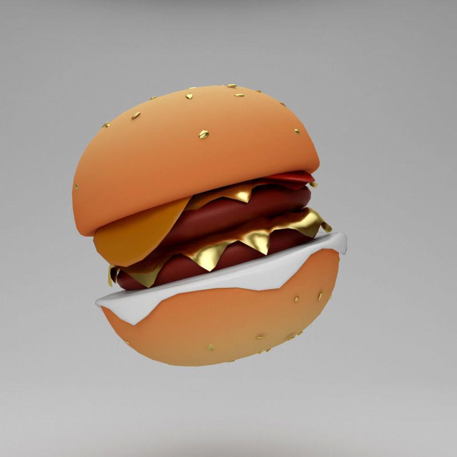 Cartoon Hamburger royalty-free 3d model - Preview no. 1