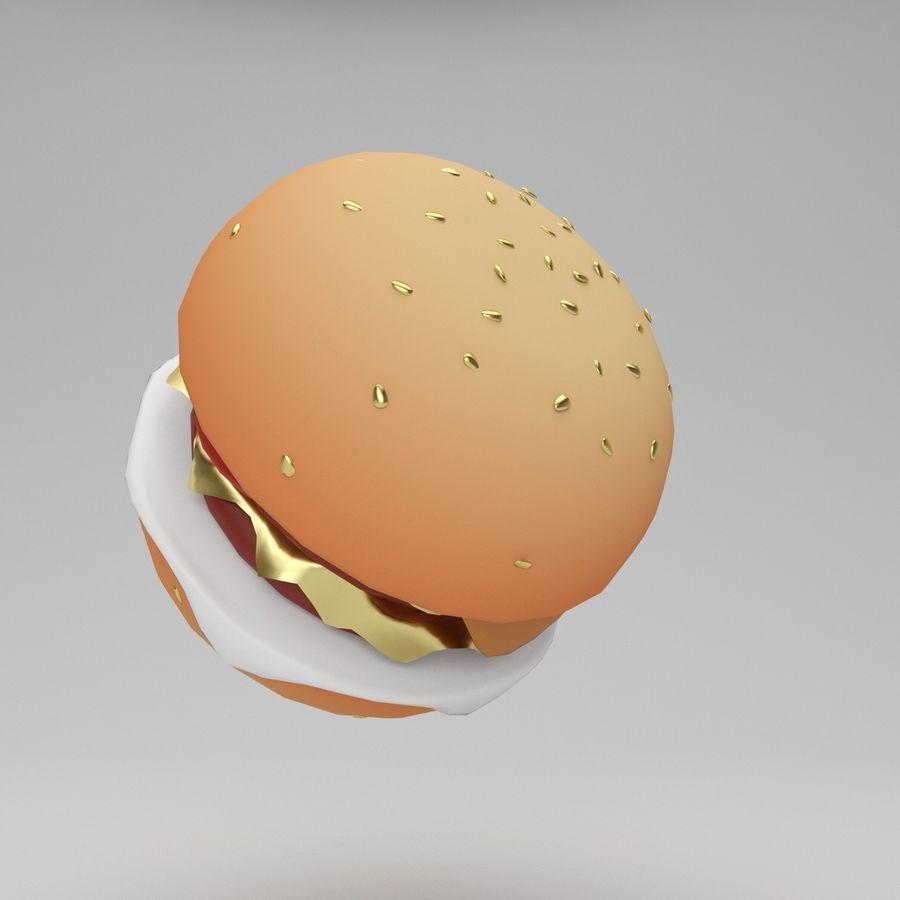 Cartoon Hamburger royalty-free 3d model - Preview no. 4