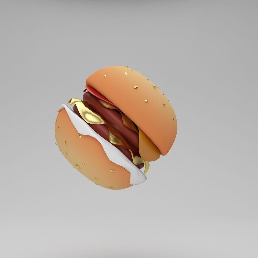 Cartoon Hamburger royalty-free 3d model - Preview no. 3