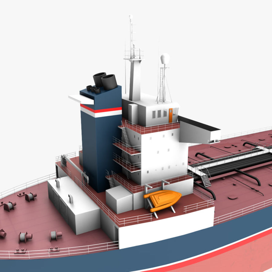 oil ship tanker royalty-free 3d model - Preview no. 9