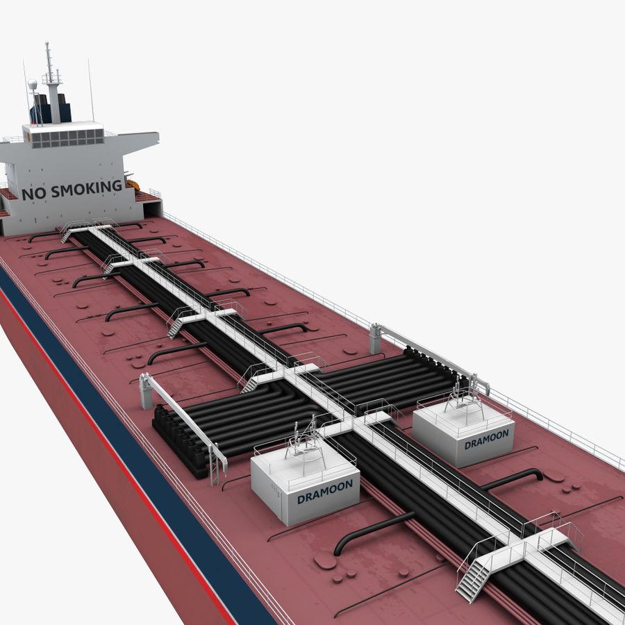 oil ship tanker royalty-free 3d model - Preview no. 7