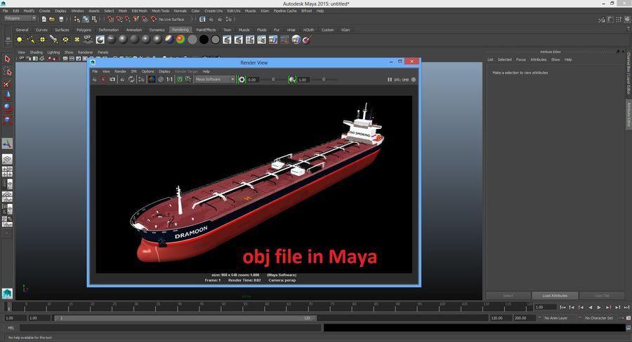 oil ship tanker royalty-free 3d model - Preview no. 23