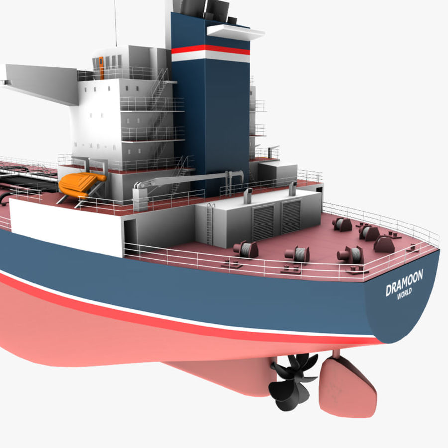 oil ship tanker royalty-free 3d model - Preview no. 11