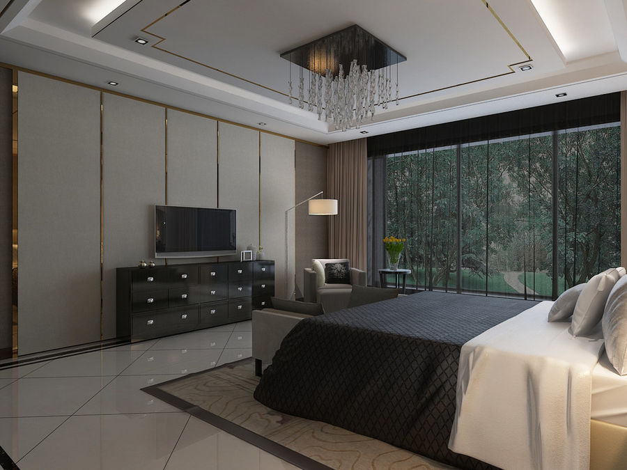 Bedroom 3 royalty-free 3d model - Preview no. 2