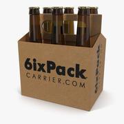 6 Pack Bottle Holder with Bottles 3d model