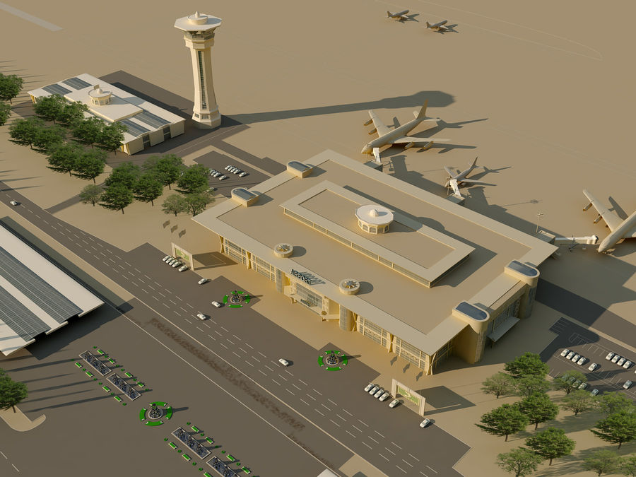 Aeroporto (1) royalty-free 3d model - Preview no. 7