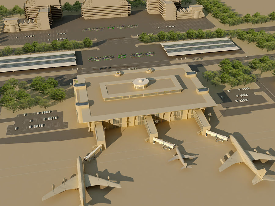 Aeroporto (1) royalty-free 3d model - Preview no. 6