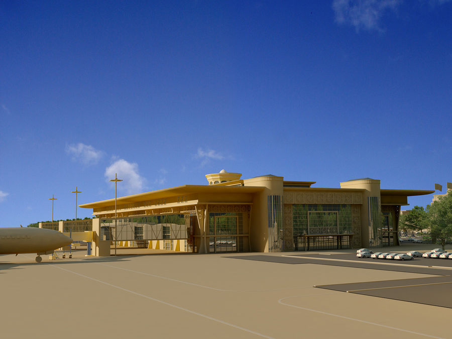 Aeroporto (1) royalty-free 3d model - Preview no. 14