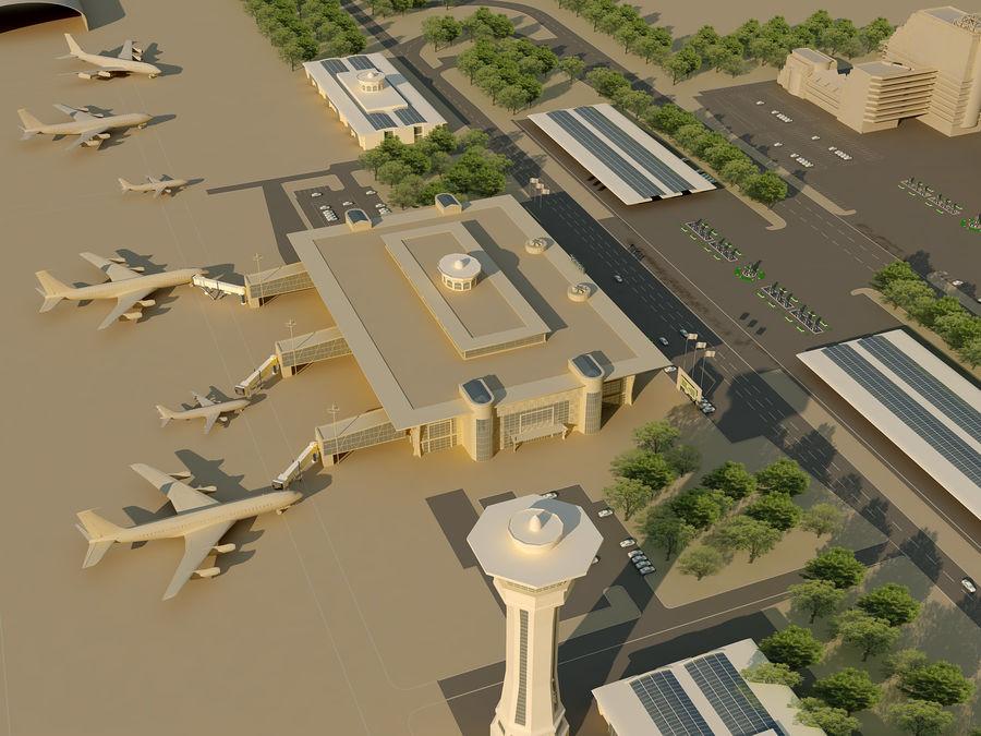 Aeroporto (1) royalty-free 3d model - Preview no. 4