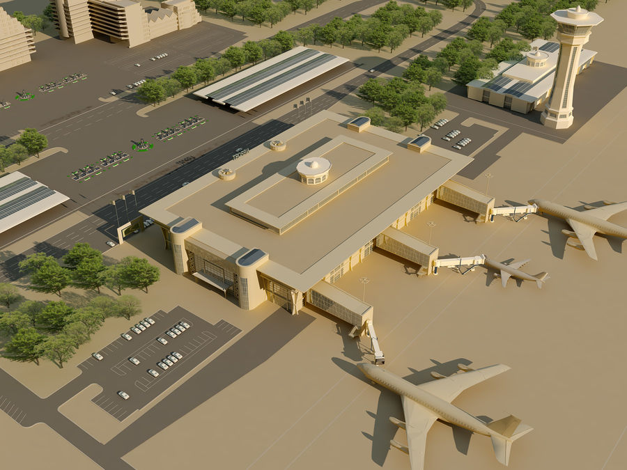 Aeroporto (1) royalty-free 3d model - Preview no. 1