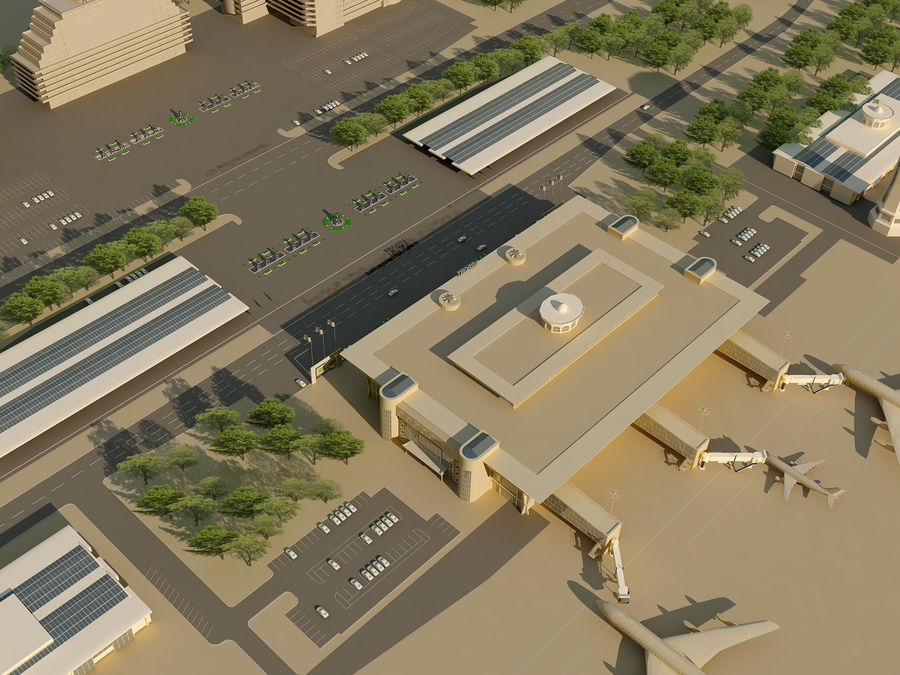 Aeroporto (1) royalty-free 3d model - Preview no. 16