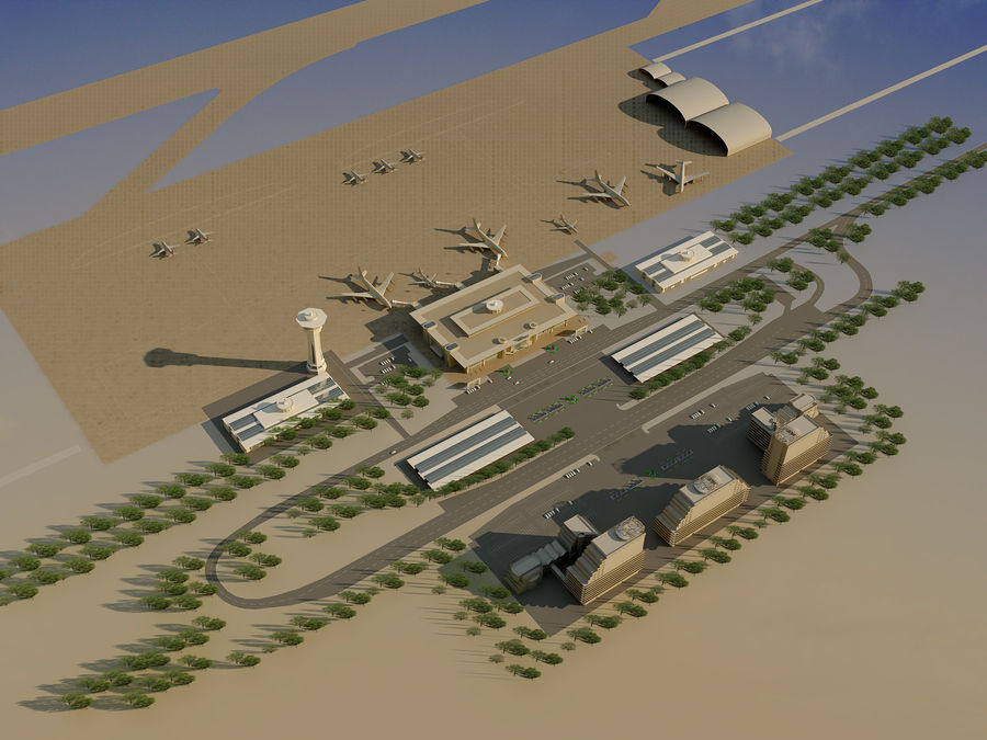 Aeroporto (1) royalty-free 3d model - Preview no. 18