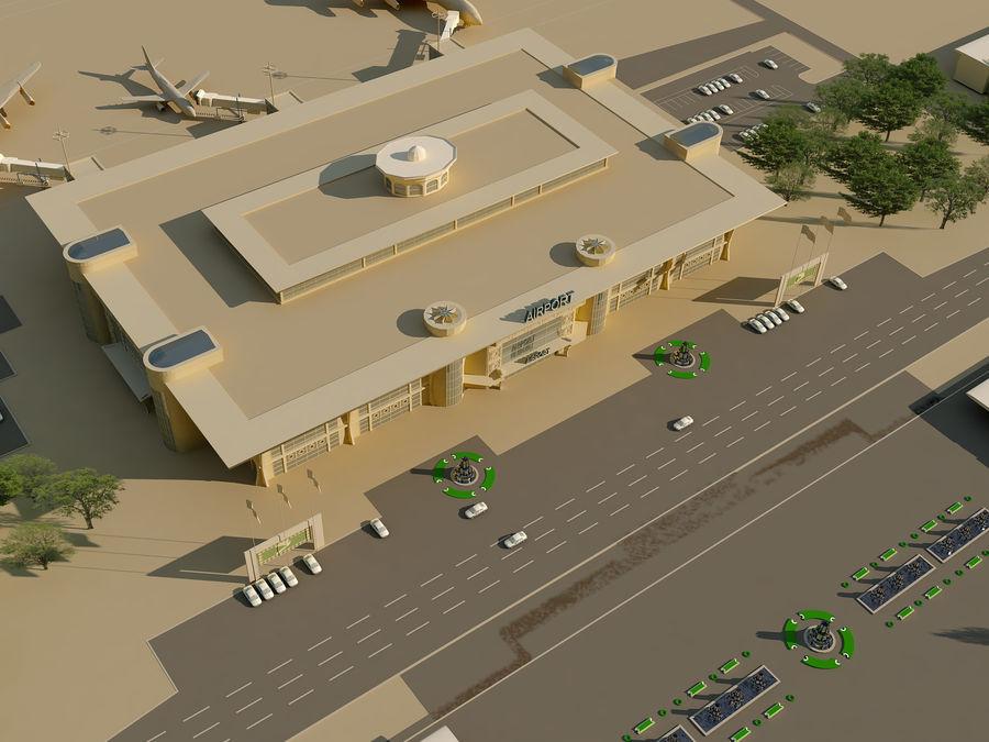 Aeroporto (1) royalty-free 3d model - Preview no. 19