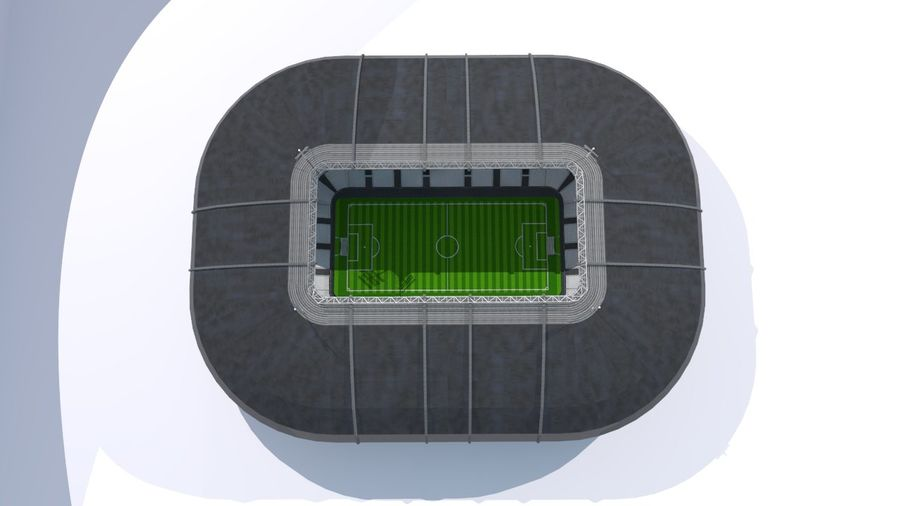 Soccer Stadium royalty-free 3d model - Preview no. 12